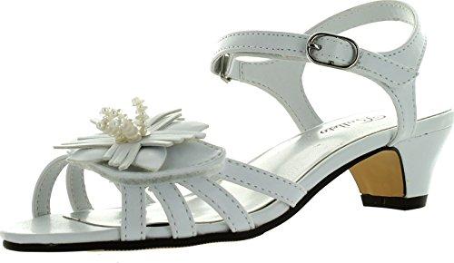 Jumping Jacks Marlene Dress Sandal ,White Small Grain Smooth
