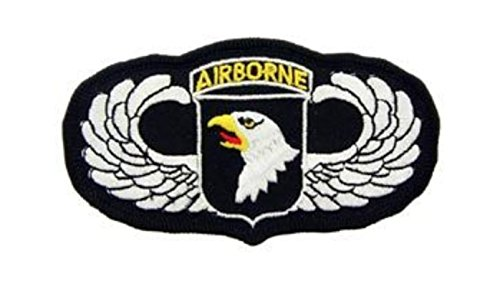 Army 101st Airborne Wings Iron On Patch 4 1/2
