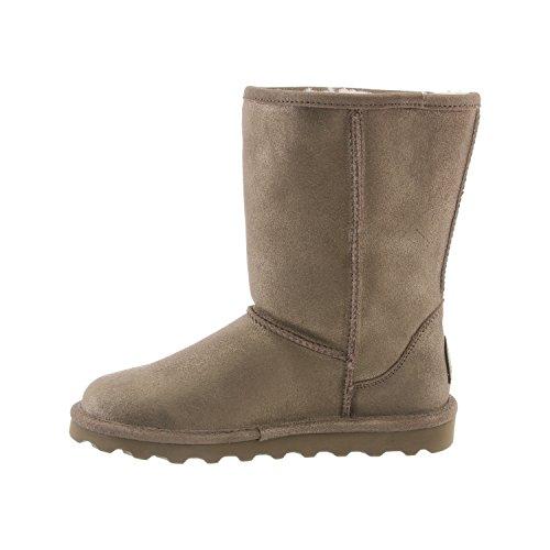 Lined Women's BEARPAW 9 Distressed Elle Winter Fur Boot Pewter Short Sheepskin xFw0qrxd
