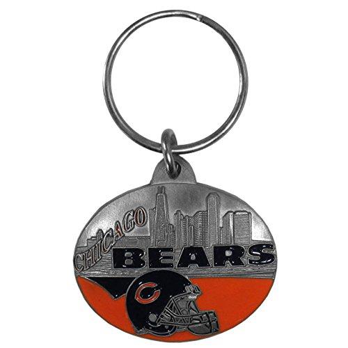 (Siskiyou NFL Chicago Bears Oval Carved Key Chain, Metal)