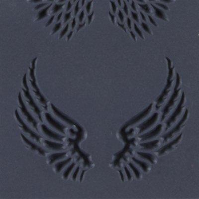 Cool Tools - Flexible Texture Tile - Angel Wings Embossed - 4