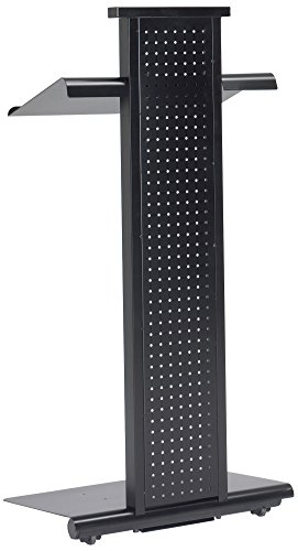 Mayline 1050LTBLK Peripherals Mobile Steel Lectern with Light, Black (Mobile Floor Lectern)