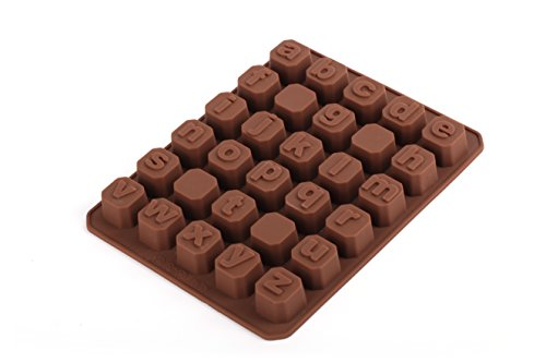Home Value Candy Mold - Silicone Chocolate Mold - Lower Case Letters, (CHOCMOLDC1310)