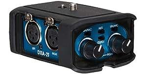 Beachtek DXA-2T - Adaptador de audio para videocámara compacta (con entrada de micrófono, 2 canales pasivos XLR)