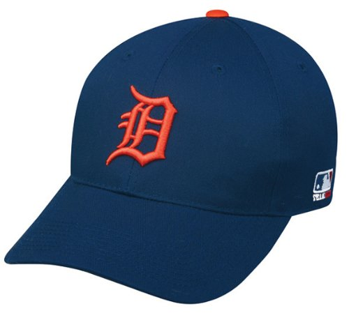 Detroit Tigers (Orange D) YOUTH (Ages Under 12) Adjustable Hat MLB Officially Licensed Major League Baseball Replica Ball - Necklace Baseball 30