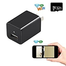 HD 1080P WIFI Spy Charger Camera Wireless Mini Security Nanny Spy Camera Adapter Motion Support Real Wall AC Plug Charger Home Security SW01