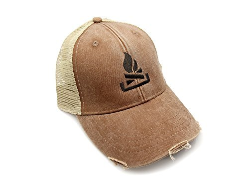Trucker Hat - Campfire - Adjustable Men's/Unisex Distressed Trucker Hat - 2 Color Options Available