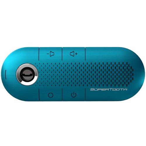 SuperTooth CRYSTAL BLUE Hands-Free Wireless Bluetooth Visor Car Kit Speakerphone - Retail Packaging