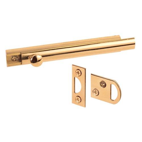 Polished Brass Slide Bolt - 9