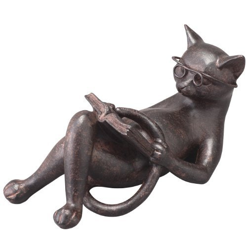 Cat figurines cat figurines antique gadgets reading cat (Cat Reading)