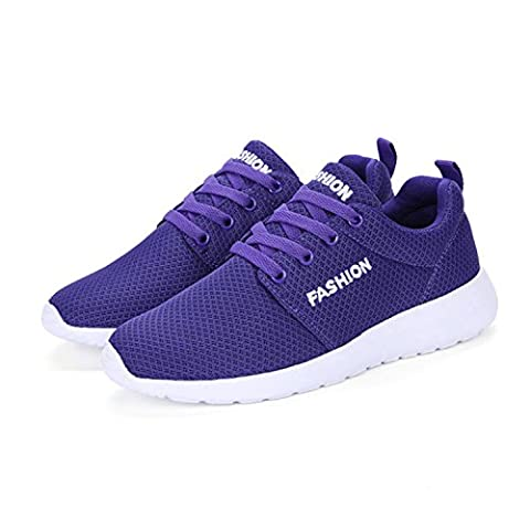 RDINFGUMG Trendy Women Trainers Flat Heel Shoes Air Mesh Spring Sport Shoes (Bunny Air Dancer)