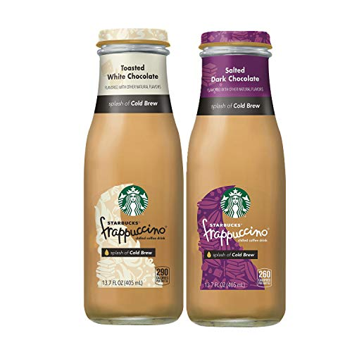 Starbucks Frappuccino Crafted with Cold Brew 2 Flavor Variety Pack, Cold Brew, 8 ()