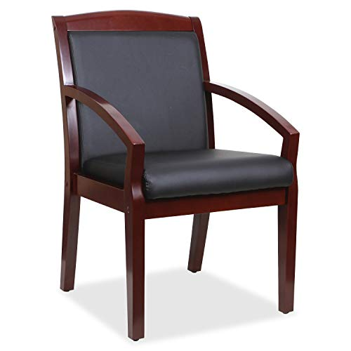 (Lorell 20020 Sloping Arms Wood Guest Chair, 34