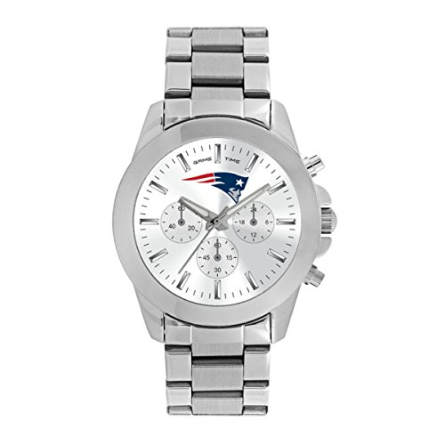 Multi Eye Stainless Steel Watch (Game Time Women's 'Knock-Out' Quartz Stainless Steel Quartz Analog Watch, Color:Silver-Toned (Model: NFL-TBY-NE))