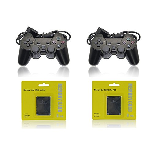 (2 PS2 Controllers / 2 Playstation 2 Memory Cards)
