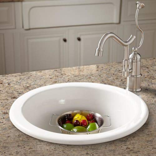 Signature Hardware 394773 Risinger Fireclay Drop-In/Undermount Prep Sink (Undermount Fireclay Prep Sink)