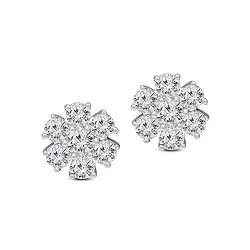 Friendly Diamonds IGI Certified 7/8 to 1 3/8 Carat Diamond Earrings For Women Lab Created 14K 10K Gold & 925 Sterling…