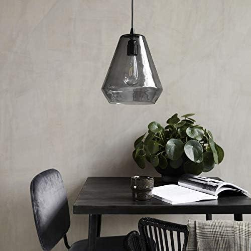 House Doctor Lamp, Hood, Grey, E27, Max 25 W, 3 m Cable, Handmade Glass,h: 32 cm, Dia: 22.5 cm