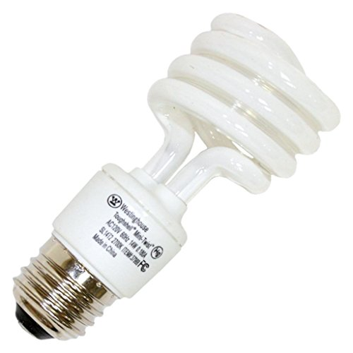 Westinghouse 37988 14 Watt Mini-Twist CFL Toughshell Warm White Light Bulb ()