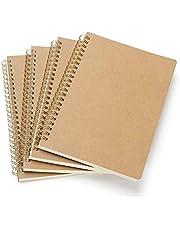 VEESUN 4 Stuks Notitieboekje A5 Spiraal Notitieblok, Krachtige Cover Lege Pagina (80 Vellen), Schetsblok, Klassiek Dagboek, Schrijfblok Tekenblok, Goed voor Memo's, Schilderen en Graffiti