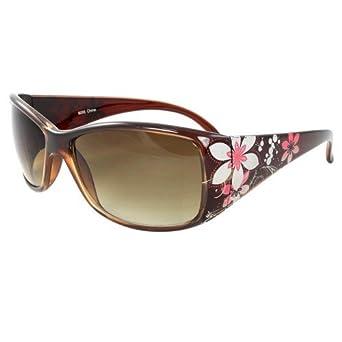 Amazon.com: MLC Eyewear rectángulo moda anteojos de sol café ...