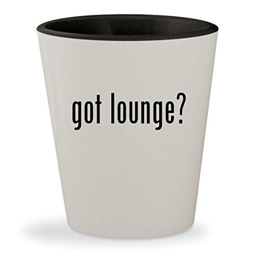 got lounge? - White Outer & Black Inner Ceramic 1.5oz Shot Glass (Pillow Rendezvous Midnight)