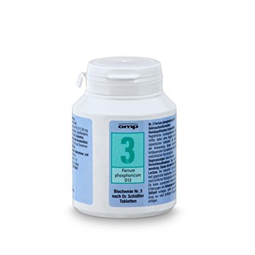 Schuessler Salz Nr. 3 - Ferrum phosphoricum D12 - 400 Tabletten, glutenfrei