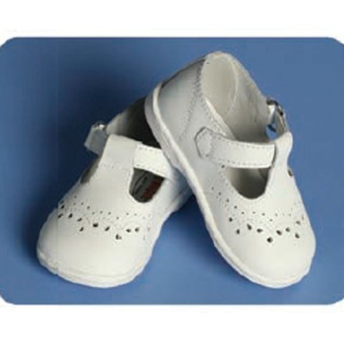 Angels Garment Baby Girls Size 7 White Classic Christening Shoes