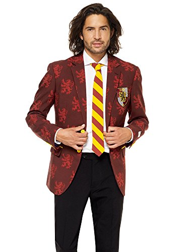 OppoSuits Licensed Halloween Costumes for Men – Full Suit: Jacket, Pants and Tie -