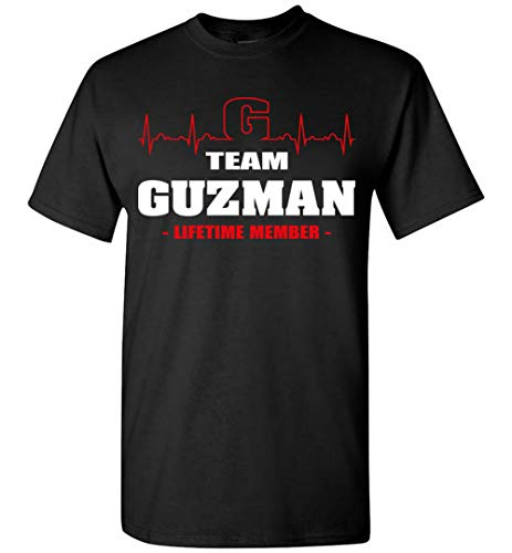 Team Guzman Lifetime Member Shirt Surname, Last Name T-Shirt Hoodie Long Sleeve - Last Names Mens Hoodie