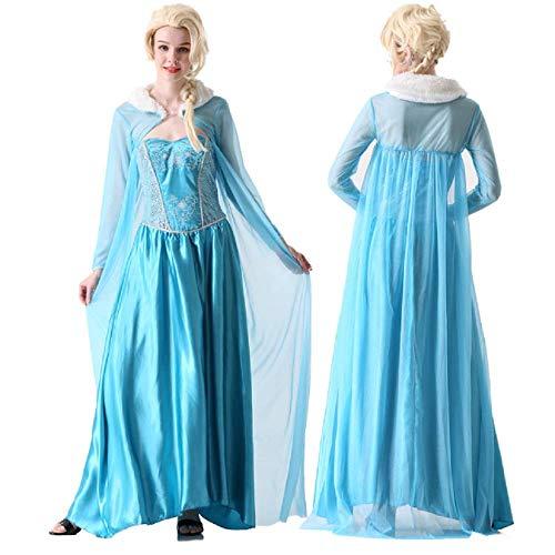Peachi Halloween Adult Dress Costume Inspired by Disney Frozen Queen (S)