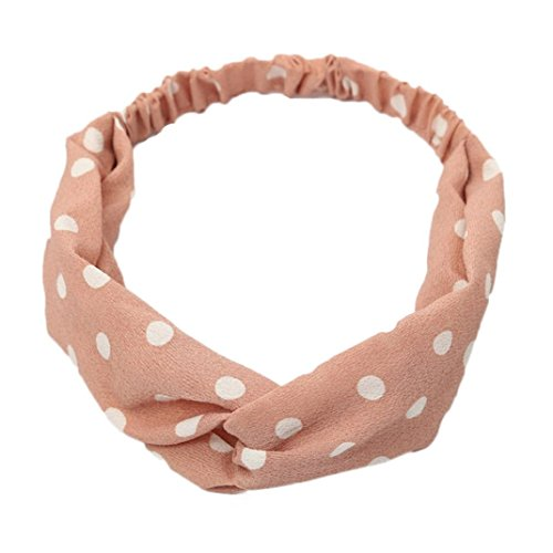 Voberry Womens Soft Lace Turban Headwrap Wide Headband in Pretty Colors (J)