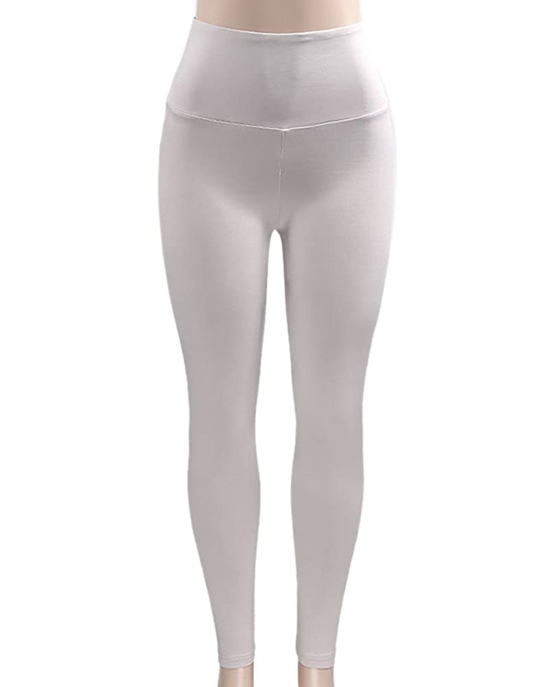 Anyu Women Sports Wind Gym Solid Color Yoga Workout Pants Leggings