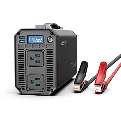 BESTEK 1200W Power Inverter DC 12V to 110V AC Converter with Digital LCD Display 4.2A Dual USB Car Charger: Electronics