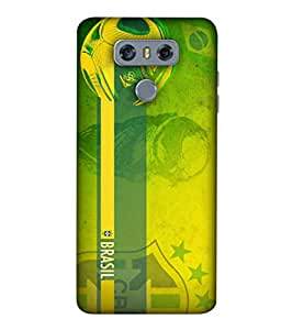 ColorKing Football Brazil 18 Green shell case cover for LG G6