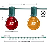 25Ft G40 Globe Patio String Lights with 25