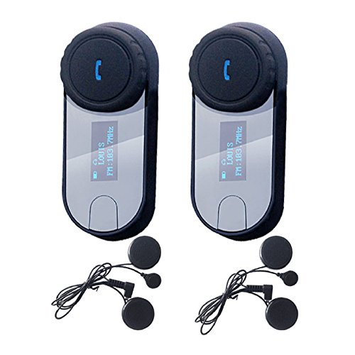 f917a95ea9a Bluetooth Motorcycle Motorbike Helmet Intercom Interphone Headset 800m  Water Resistant for 2 or 3 riders and ...