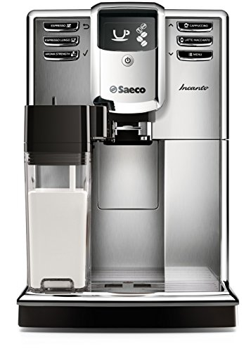 Deluxe Automatic Grinder Coffee - Saeco Incanto Carafe Super Automatic Espresso Machine with AquaClean filter, Stainless Steel, HD8917/48