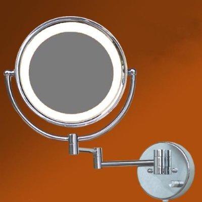 LOYWE LED Beleuchtet wunderschöne Kosmetikspiegel 1+7F Lichtstaerke verstellbar hochwertig LW36