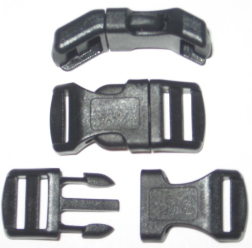 1-2-curved-side-release-buckles-with-adjustor-bar-multiple-color-and-quantity-10-pack-black