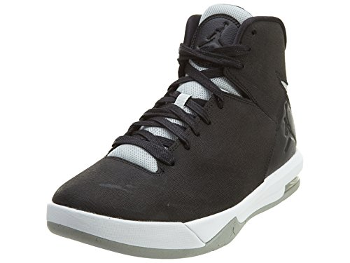 NIKE Mens Jordan Air Imminent Black Grey Mist-White Leather