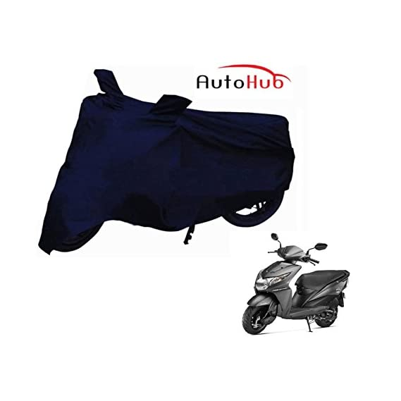 Auto Hub Water Resistant Polyester 2 Wheeler Body Cover for Honda DIO (Navy Blue)
