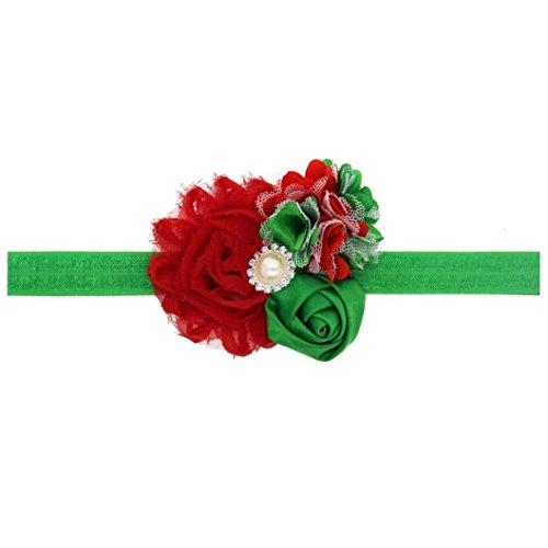 [DEESEE(TM) Hairband Baby Girl Christmas Ornaments Headdress Elastic Hair Band (C)] (Indian Mens Braid Adult Wig)