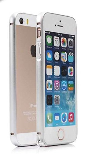 Crater Aluminum Bumper Cases for Apple Iphone 5/5s (Silver)