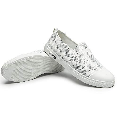 Ocio De Totern Blanco Verano Transpirable Y Hombres ALIKEEYEstilo Zapatos Tragar De Cómodo Malla vUwU8