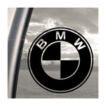 Amazoncom BMW Black Decal Car Truck Bumper Window Vinyl Sticker - Bmw vinyl stickers