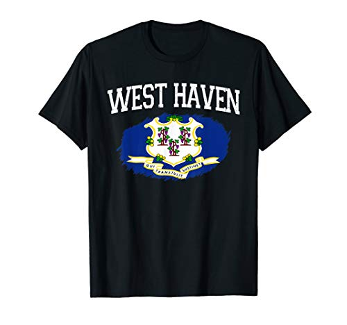 WEST HAVEN CT CONNECTICUT Flag Vintage USA Sports Men Women T-Shirt (Only The Best West Haven Ct)