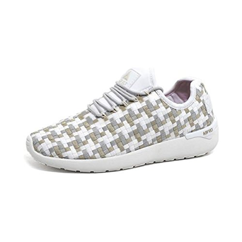 Asfvlt Sneaker Mod. Chaussettes Speed ss030 Tissé Blanc Multitonal