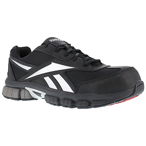 Reebok Womens Ateron Composite Toe Cross Trainer Safety Work Shoes Black/Silver