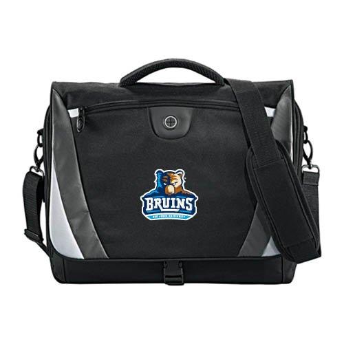 Bob Jones University Slope Black/Grey Compu Messenger Bag 'Official Logo' by CollegeFanGear